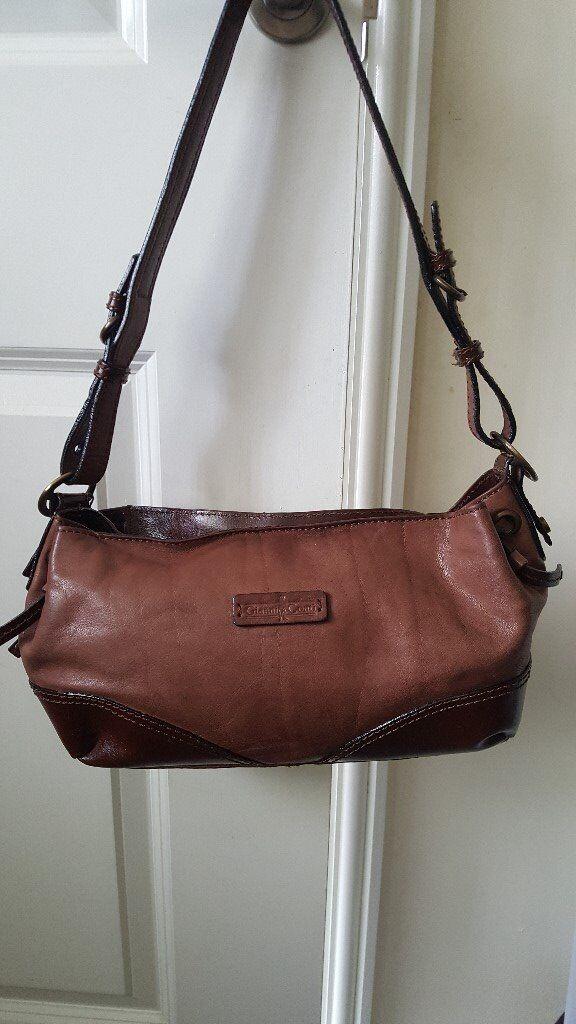 Gianni Conti Two Tone Tan Leather Handbag
