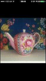 Large Pip Studio Floral Tea Pot