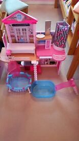 Barbie doll playhouse & accessories
