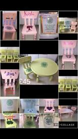 Kids table & chairs rangers celtic cartoon characters many more