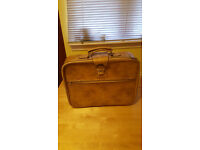 Beige leather suitcase by Boots. Only £8!!