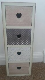 Floral drawers x2 shabby chic furniture bedside farmhouse vintage storage