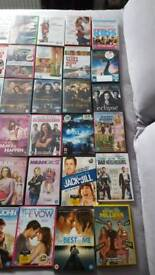 47 mixed dvds including comedy and chick flick