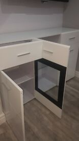 Sideboard - white gloss with gkass & LED lights