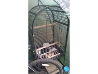 Large parrot cage on wheels for sale