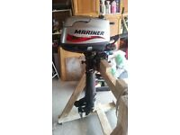 Mariner 6hp Outboard 4 stroke Long shaft with integral fuel tank