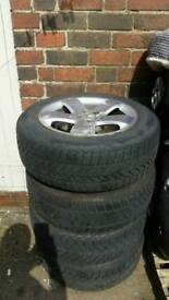 2002-2009 Mercedes E class W211 4x alloy wheels with tyres 205/60/16 R16