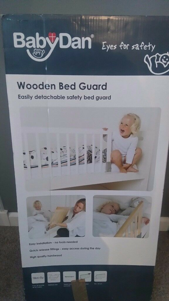 Babydan Wooden Bed Guard - White