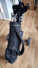 Donnay Evolution Golf Clubs W/ Slazenger Trolley and extras (Collection Only)