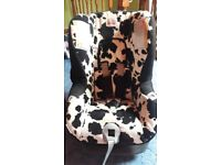 Britax first class plus cowmooflarge reclining carseat from birth to 18kg