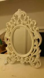 An antique style dressing table and mirror for sale