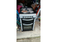 Belling FSE50TC Twin Cavity Electric Cooker in Silver