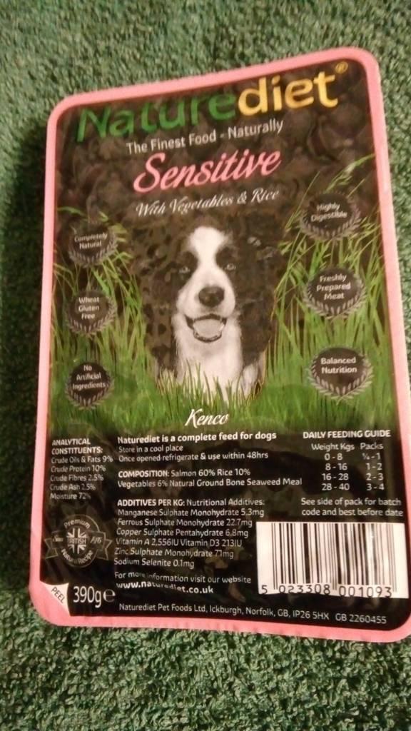 21 pkts Naturediet dog food