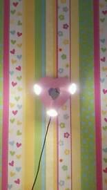 Girls wall light