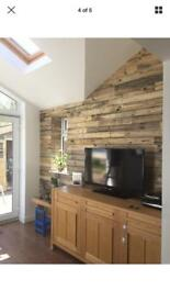 Rustic Cladding 10m2 pallet wood feature wall scaffold industrial chic