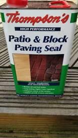 Thompsons Patio & Block Paving Seal 5L unused