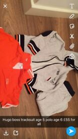Boys age 5 Hugo boss tracksuit