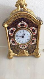 Crown Derby Clock