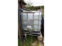IBC 1000 litre water storage container