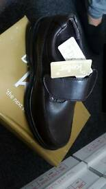 Brand new Mens slip on brown shoes