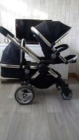 I candy peach 2 double pram