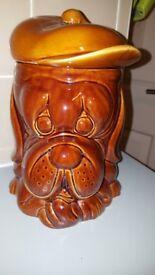 1950s vintage 'droopy' dog biscuit jar