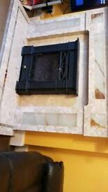 A fantastic marble fire surround