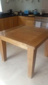 Kitchen table - solid light oak