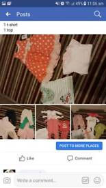 Bundle of age 6-9 months girls clothes