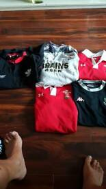 Joblot of Welsh rugby shirts