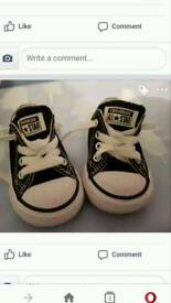 Converse all stars size 3 as new worn twice