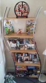 Stylish Wooden & Metal Bookshelf