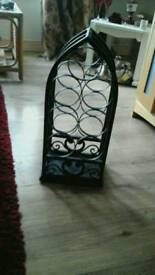 Iron wine rack bottle holder