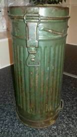 WW2 german gas mask canister.