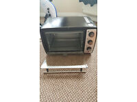 Andrew James 20 Ltr Black Convection Mini Oven And Grill Table