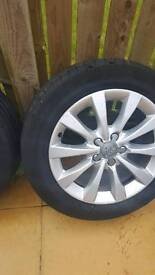 Audi 17 alloy wheels and tyres