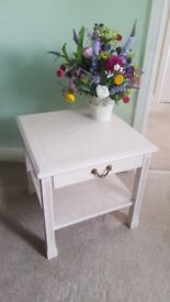 Side Table in White Wash Finish