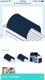 Bed tunnel / tent over bed type blue
