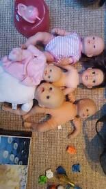 5 dolls and bits