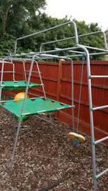 Huge tp climbing frame with slide