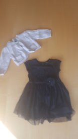 Girls Next Party Dress and Shrug Age 9 - 12 months Bundle