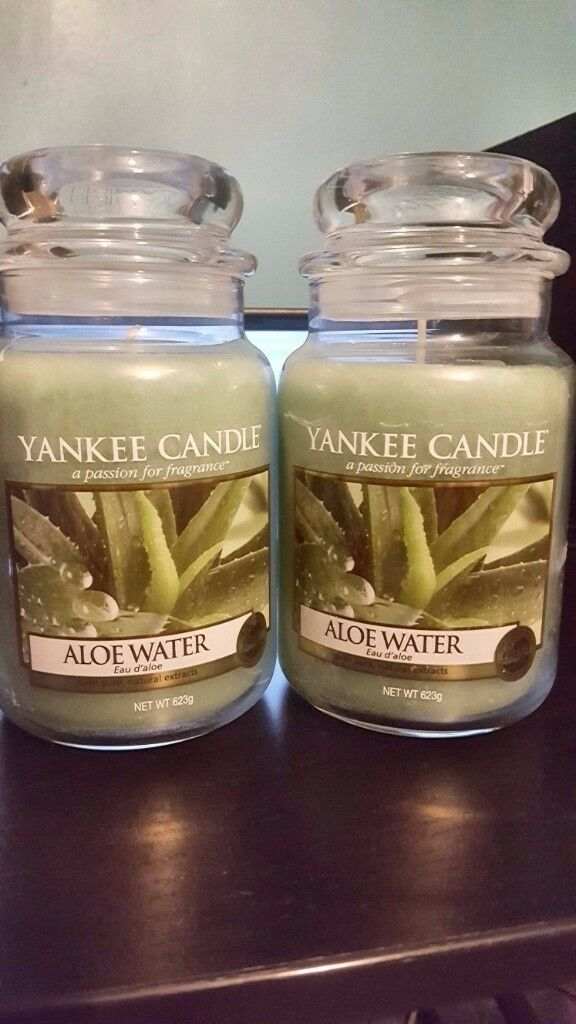 2 x Large Yankee Candles - Aloe Water. ONLY £25! CHRISTMAS DEAL! BRAND NEW!