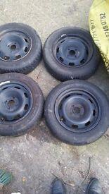 4 peugeot rims & tyres