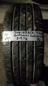 225/55/17 1 pneu été continental 8-9/32 *