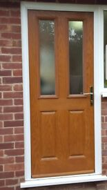 Composite door and frame