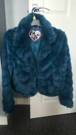 Lipsy teal coat