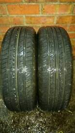 2 X 195 65 R15 ARROWSPEED TYRES, 8 MM TREAD DEPTH, 6 MONTHS OLD, EXCELLENT CONDITION