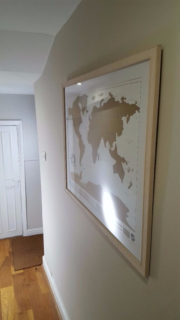 Picture Frame With Map Of World Scratch Map Gold In Crystal - Scratch map frame