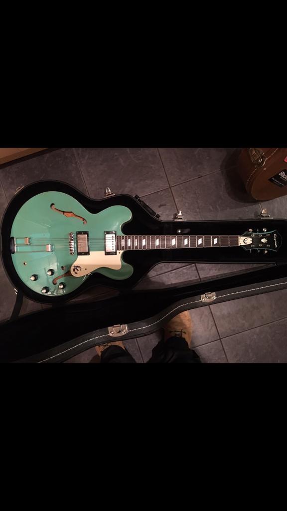 Epiphone riviera 1997 turquoise