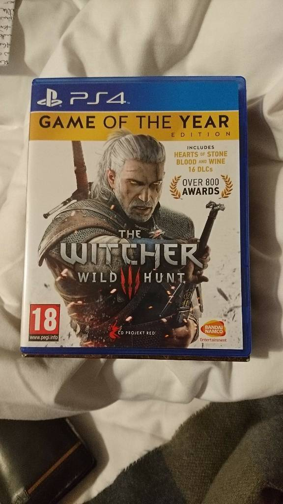 PS4 Game, Witcher 3 GOTY